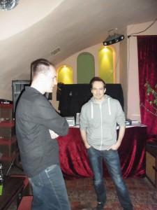 Robert Targan und Falk Sperber vor dem aufregenden Auftritt.