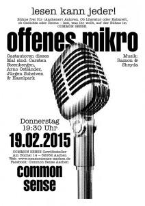 Bühne frei für Aachener Autoren Februar