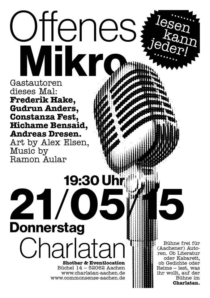 Bühne frei für Aachener Autoren - Offenes Mikro Mai 2015  Lesen kann jeder!